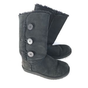 UGG- Tall Black Button Boots